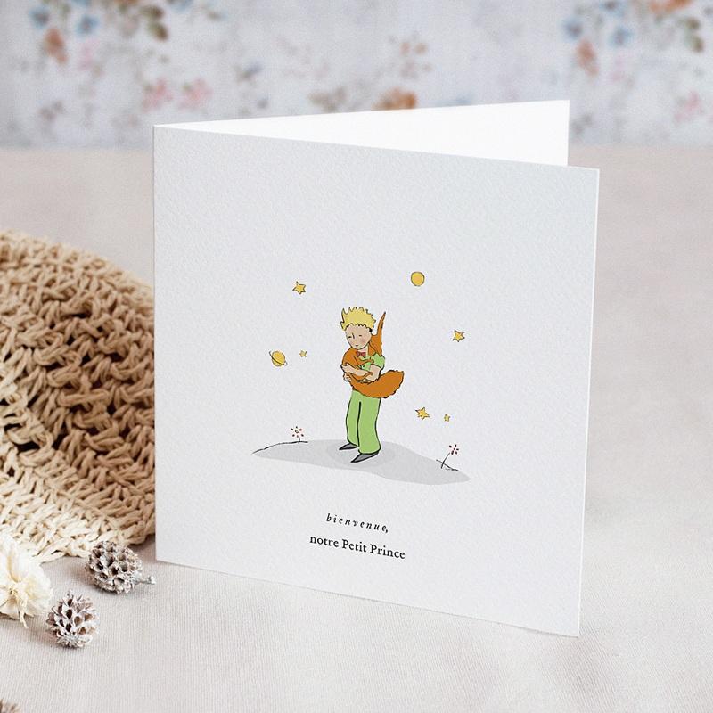 Faire-Part Naissance Le Petit Prince Le renard du Petit Prince, double volet