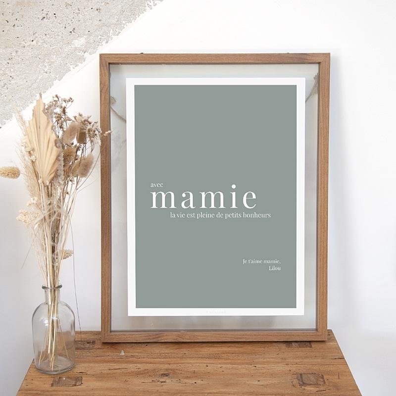 Affiches Avec Mamie, la vie est...