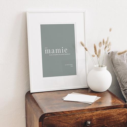 Affiches Avec Mamie, la vie est... gratuit