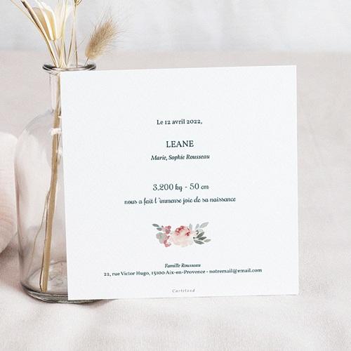 Faire-Part Naissance Fille Althéa, 14 x 14,5 cm pas cher