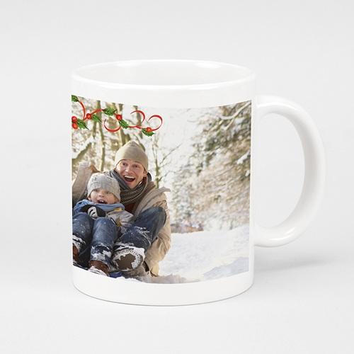 Mug Personnalisé - Houx sur fond blanc 9578