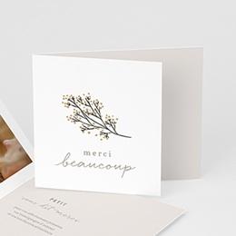 Carte Remerciement Naissance - Petit brin doré, pli décalé - 0