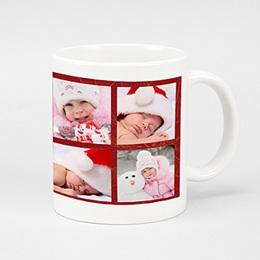 Mug Noël Noel en rouge