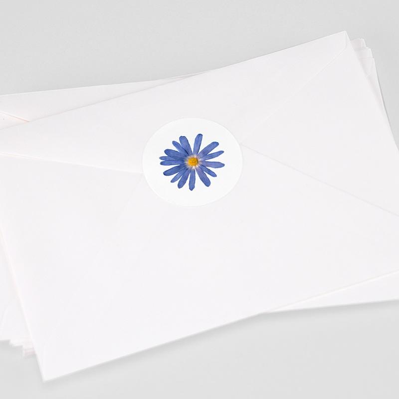 Etiquette Autocollante Naissance Herbier Sérénité, 4,5 cm