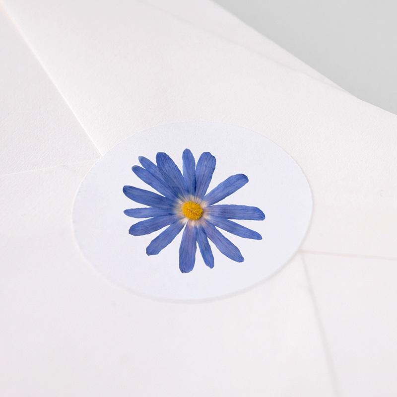 Etiquette Autocollante Naissance Herbier Sérénité, 4,5 cm pas cher