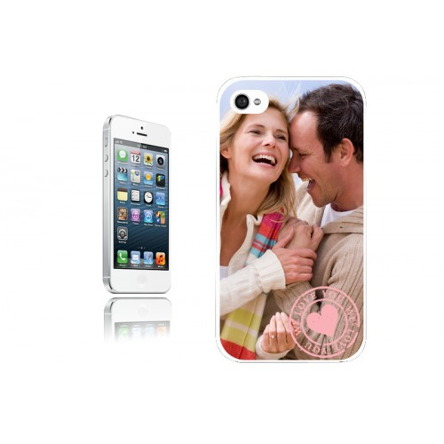 Coque Iphone 4/4s personnalisé - Coque Iphone 5 S- Blanche 9600