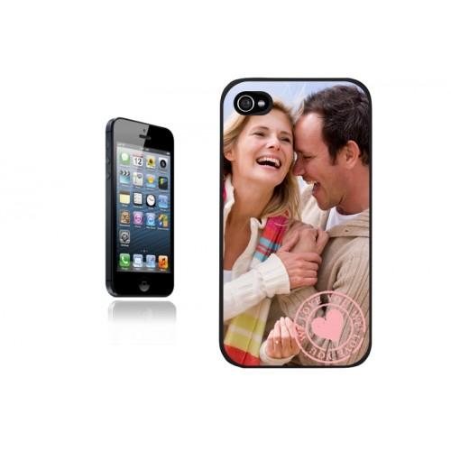 Coque Iphone 4/4s personnalisé - Coque Iphone 5 S- Noire 9602