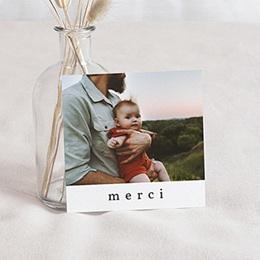 Carte Remerciement Naissance - Renard & Petit Prince, Photo, 10 x 10 - 0