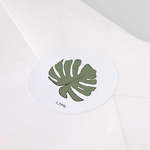 Etiquette Autocollante Naissance Sous les tropiques, 4,5 cm pas cher