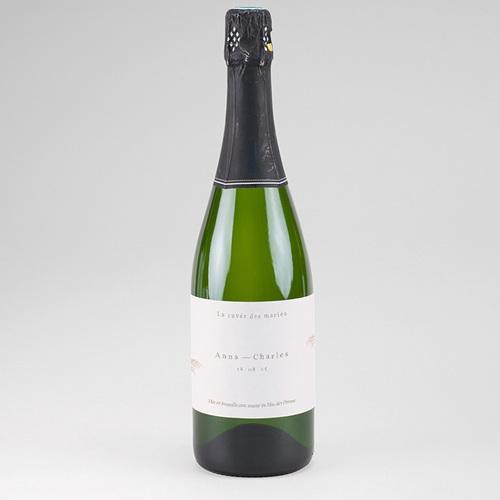 Etiquette Bouteille Mariage Viva la Pampa, Champagne