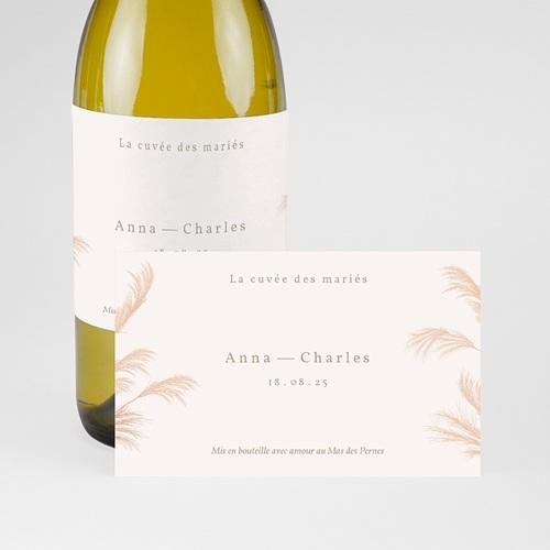 Etiquette Bouteille Mariage Viva la Pampa, Champagne pas cher