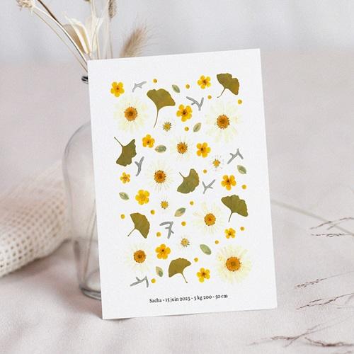 Faire-Part Naissance Herbier du Soleil, 12 x 16,7 cm