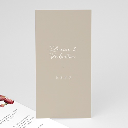 Menu Mariage Bouquet Fleurs Rouges, Repas de noces