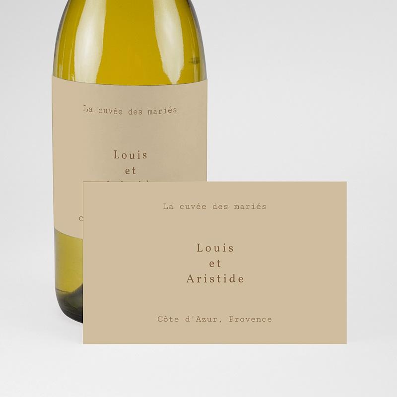 Etiquette Bouteille Mariage Pivoine en silhouette, Champagne pas cher