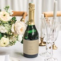 Etiquette Bouteille Mariage Pivoine en silhouette, Champagne gratuit