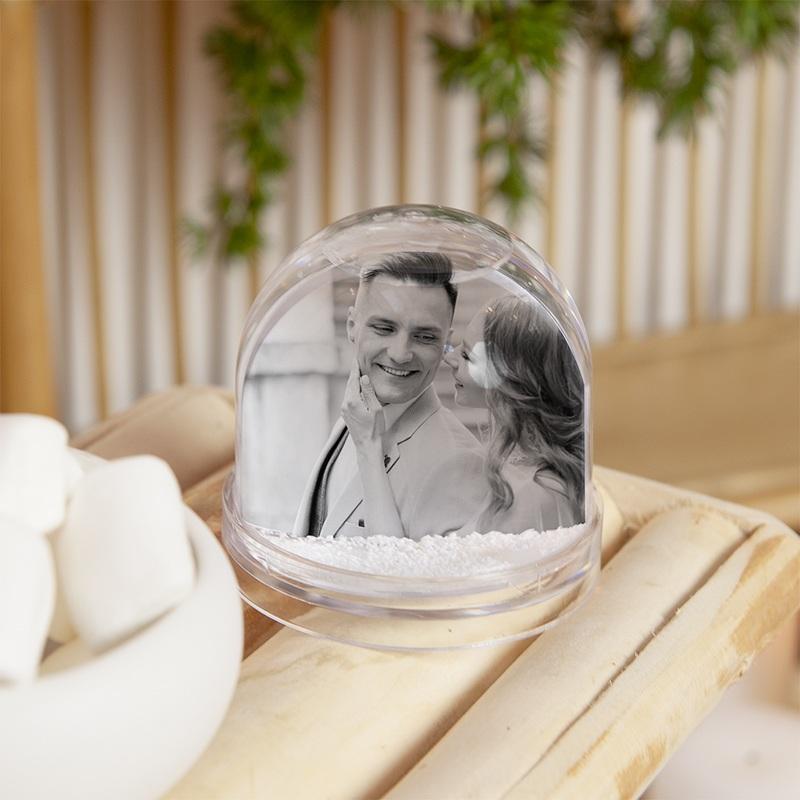 Boule à Neige Personnalisée Photo  Boule à neige 100% personnalisée