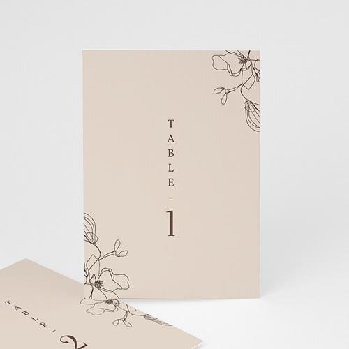 Marque Table Mariage Cerisier en silhouette, Lot de 3