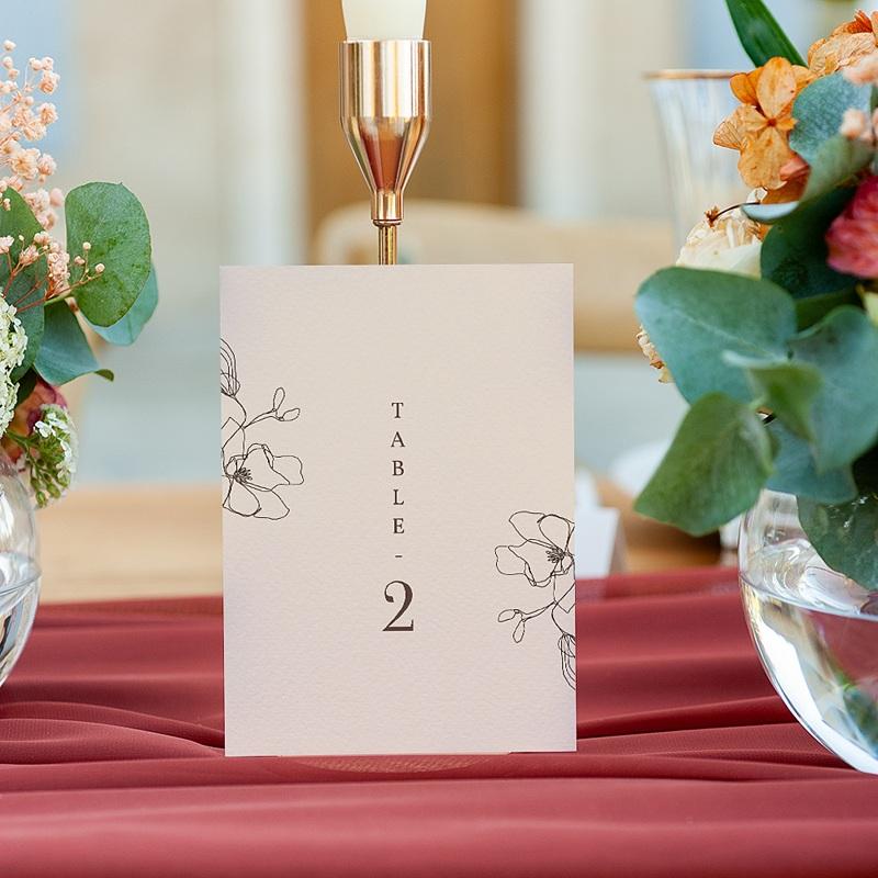 Marque Table Mariage Cerisier en silhouette, Lot de 3 gratuit