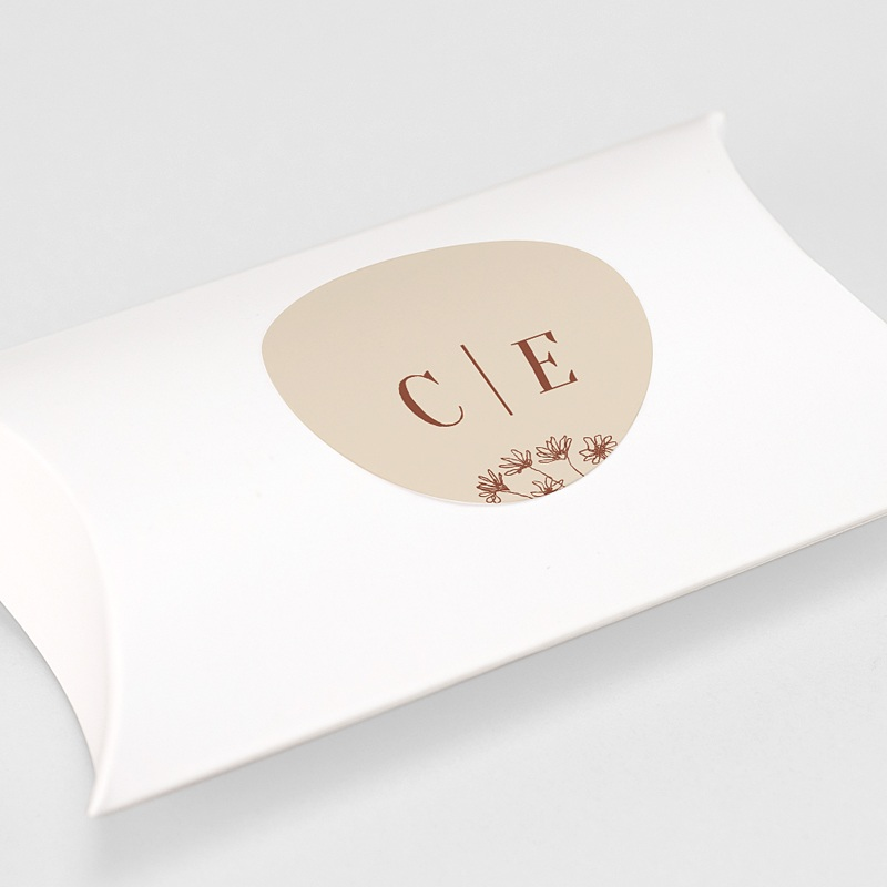 Etiquette Autocollante Mariage Silhouette Fleurs des Champs, sticker gratuit