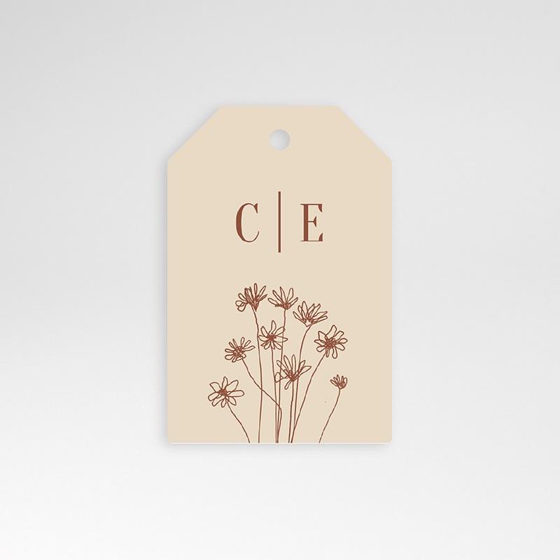 Etiquette Cadeau Mariage Silhouette Fleurs des Champs, Souvenir