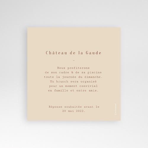 Carte Invitation Mariage Silhouette Fleurs des Champs, Brunch pas cher