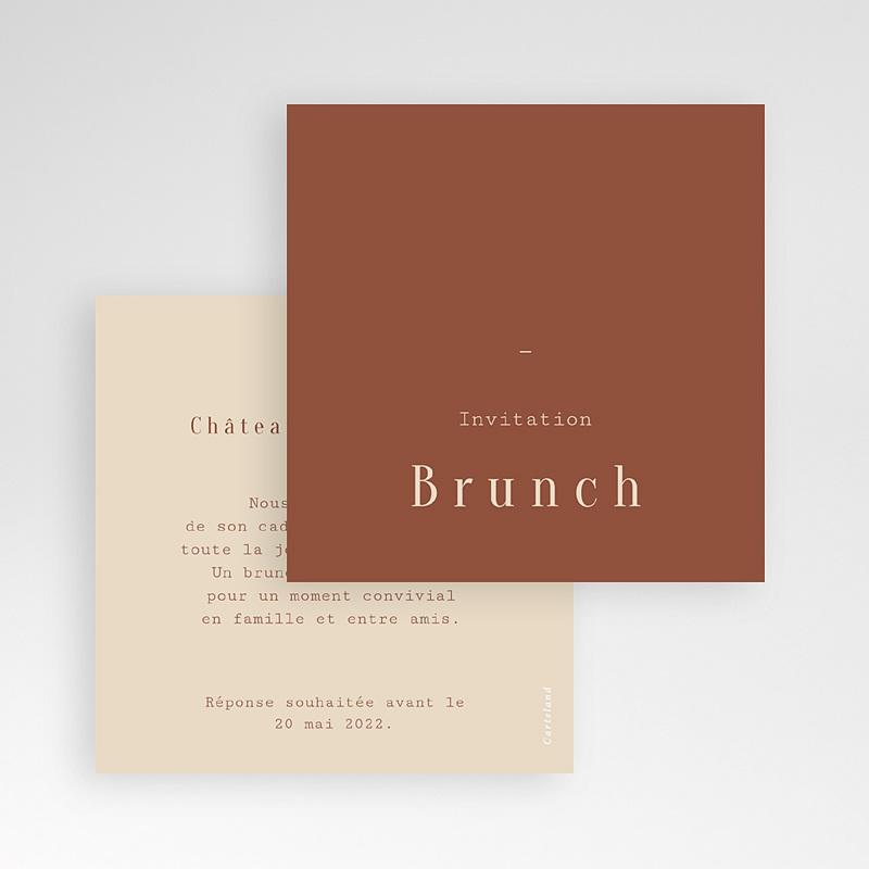 Carte Invitation Mariage Silhouette Fleurs des Champs, Brunch gratuit