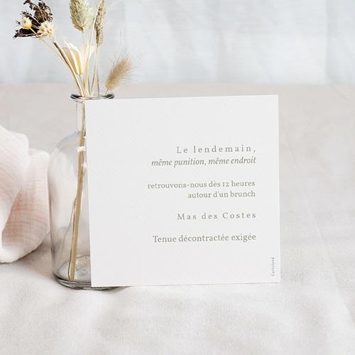 Carte Invitation Mariage Viva la Pampa, Brunch pas cher