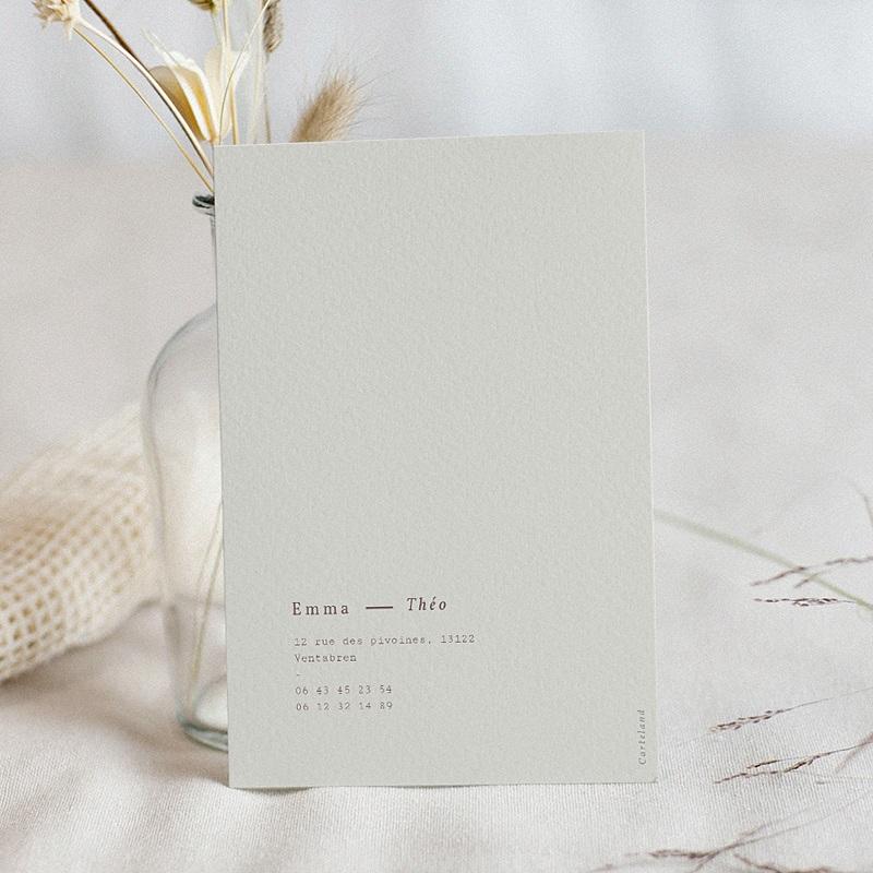 Faire-Part Mariage Lys en Silhouette, Gris beige, 12 x 16,7 pas cher