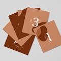 Marque Table Mariage Abstrait, Couleurs automnales, lot de 12