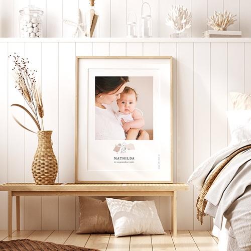 Affiche Chambre Enfant Le Petit Prince Découvertes d'une petite princesse, portrait pas cher