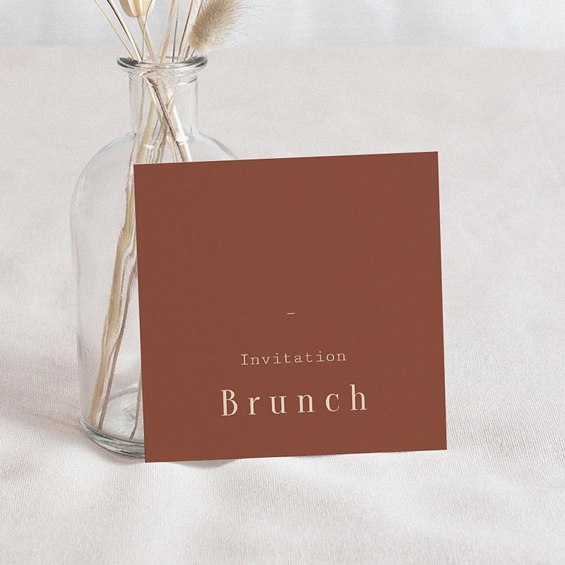 Carte Invitation Mariage Silhouette Fleurs des Champs, Brunch