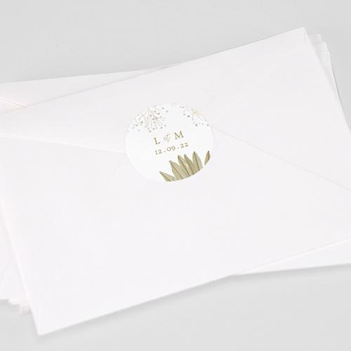 Etiquette Autocollante Mariage Globe de mariée, 4,5 cm