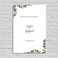 Panneau Bienvenue Mariage Eucalyptus Aquarelle, Affiche Accueil
