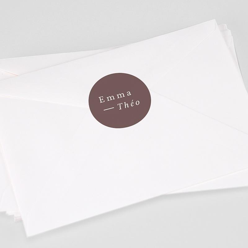Etiquette Autocollante Mariage Lys en Silhouette, 4,5 cm