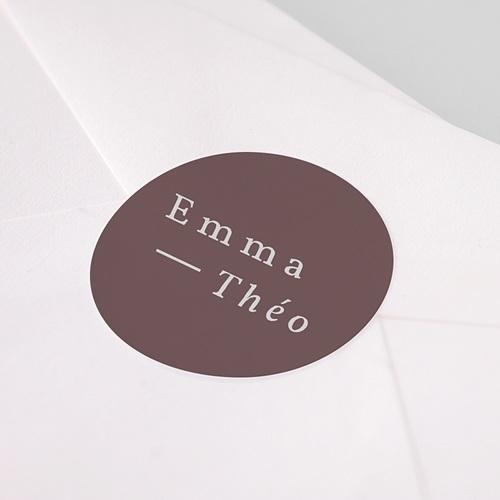 Etiquette Autocollante Mariage Lys en Silhouette, 4,5 cm pas cher