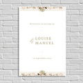 Panneau Bienvenue Mariage Globe de mariée, Poster d'accueil