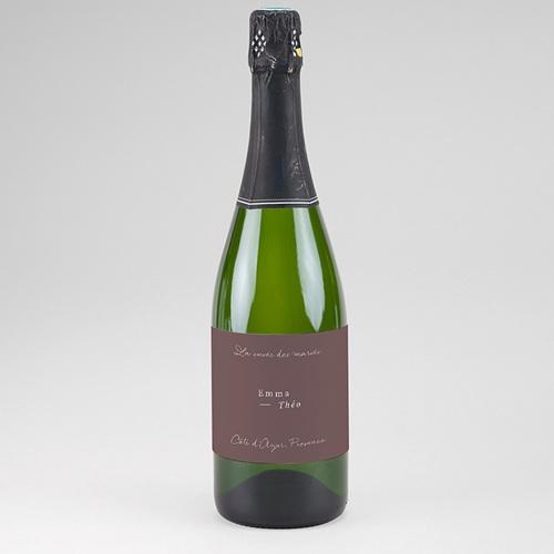 Etiquette Bouteille Mariage Lys en Silhouette, Champagne