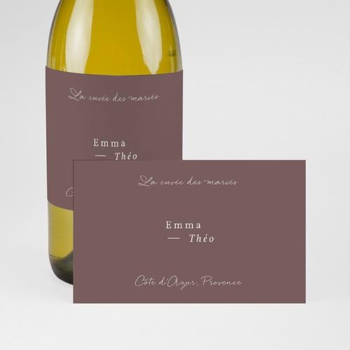 Etiquette Bouteille Mariage Lys en Silhouette, Champagne pas cher