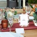 Marque Table Mariage Bouquet Fleurs Rouges, Lot de 3 pas cher