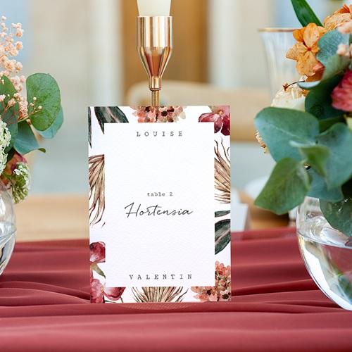 Marque Table Mariage Bouquet Fleurs Rouges, Lot de 3 gratuit