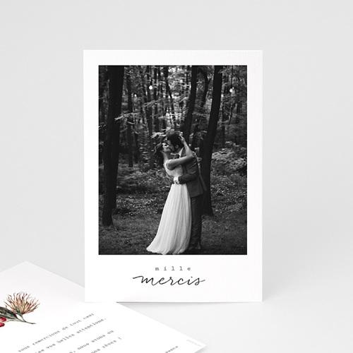 Carte Remerciement Mariage Bouquet Fleurs Rouges, Photo