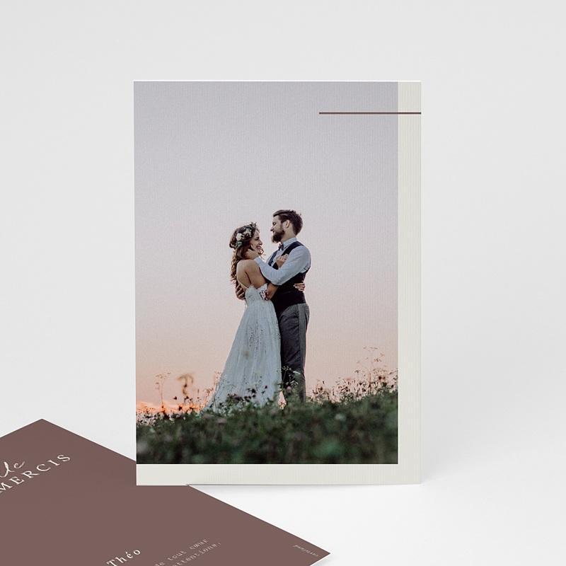 Carte Remerciement Mariage Lys en Silhouette, Photo, 10 x 15