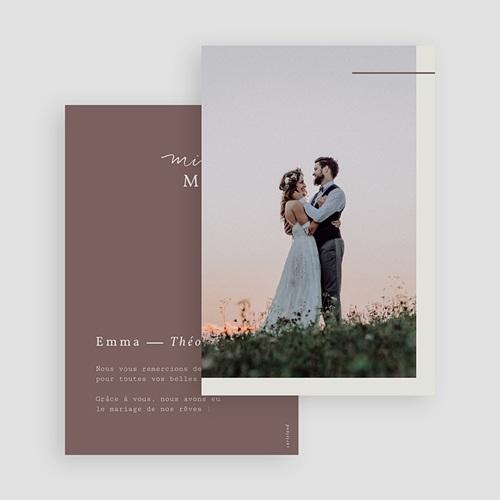 Carte Remerciement Mariage Lys en Silhouette, Photo, 10 x 15 gratuit