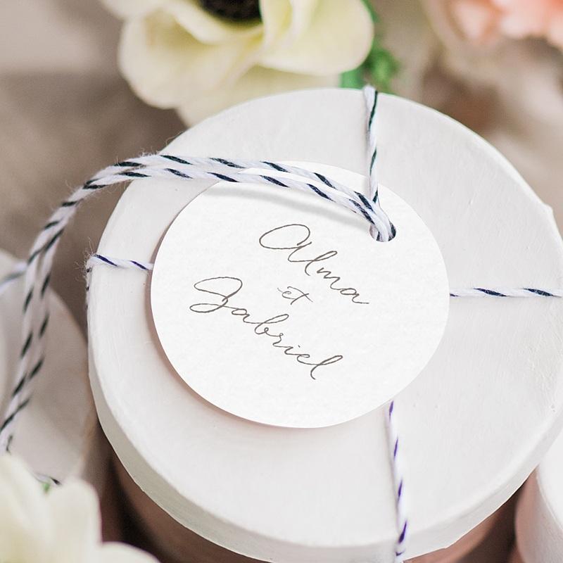 Etiquette Cadeau Mariage Couronne Fleurs Aquarelle, souvenir gratuit