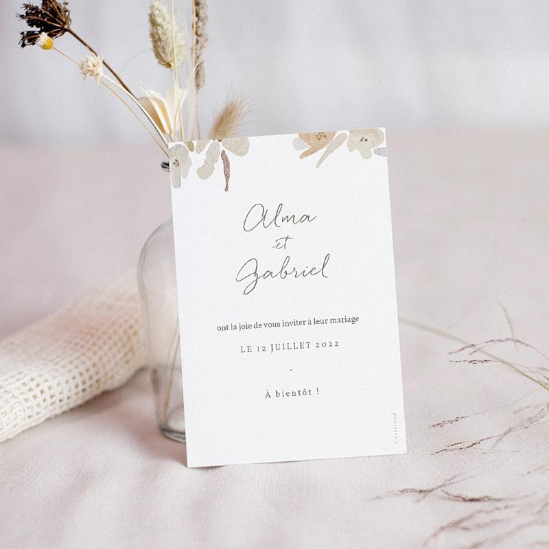 Save The Date Mariage Couronne Fleurs Aquarelle, Jour J pas cher
