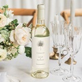 Etiquette Bouteille Mariage Boho palmier, Beige, Vin