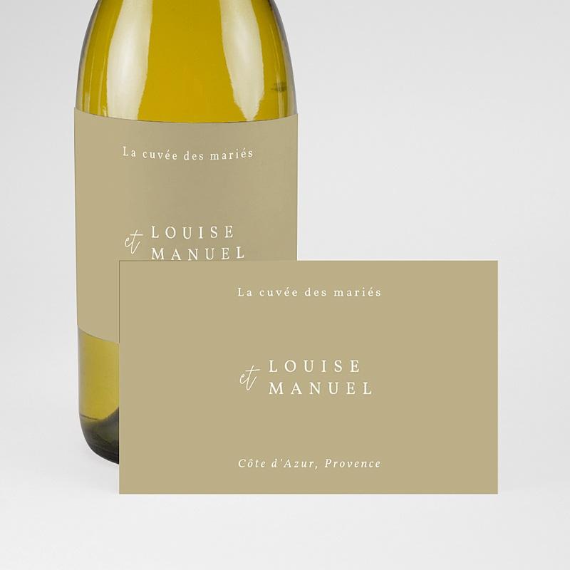 Etiquette Bouteille Mariage Globe de mariée, Champagne pas cher