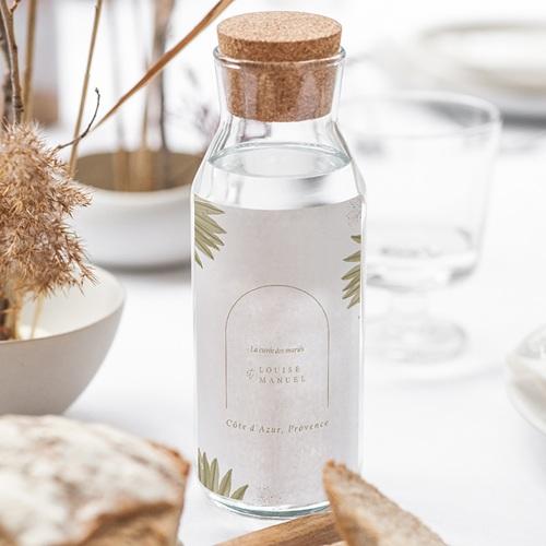 Etiquette Bouteille Mariage Globe de mariée, Vin gratuit