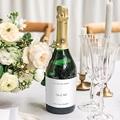 Etiquette Bouteille Mariage Fougère Aquarelle, Champagne gratuit