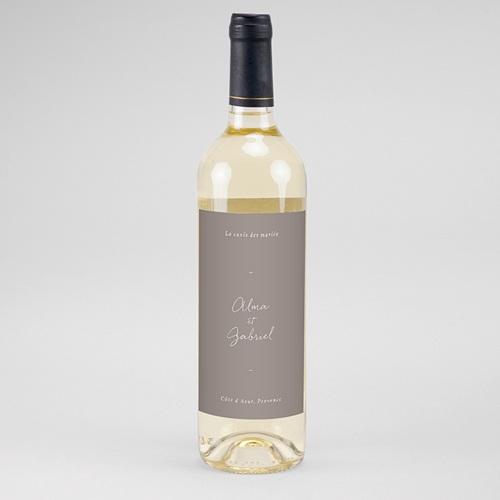 Etiquette Bouteille Mariage Couronne Fleurs Aquarelle, vin